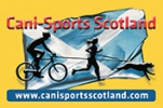 Logo for Cani-Sports Scotland - Black Dog 5k