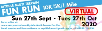 Logo for Myddle VIRTUAL Multi-Terrain 10K 5K & 1 Mile Fun Run