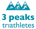 Logo for Three Peaks Triathletes - 2020 Membership