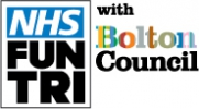 Logo for NHS Fun Triathlon with Bolton Council