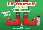 Logo for Elf Yourself Virtual 10K Race - Meningitis Research Foundation