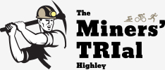 Logo for Miners' Trial Highley Sprint Triathlon