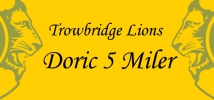 "Logo for Trowbridge Lions Doric Five Miler ""The Burger Run"""